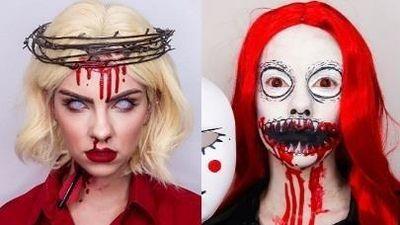 Hot girl lột xác với màn make up ma quái cho dịp Halloween