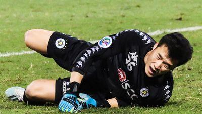 Bùi Tiến Dũng để lọt lưới 4 bàn khi bắt chính cho CLB Hà Nội