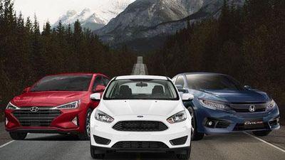 Tầm giá dưới 1 tỷ đồng, chọn Honda Civic, Hyundai Elantra hay Ford Focus?