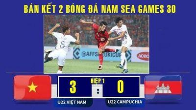Xem lại pha ghi bàn của Tiến Linh và cú đúp của Đức Chinh vào lưới U.22 Campuchia