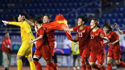 Khoảnh khắc bảo vệ thành công HCV SEA Games của tuyển nữ Việt Nam