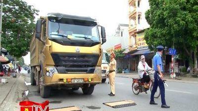 Cảnh sát Giao thông Hà Nội tập trung xử lý xe chở quá tải