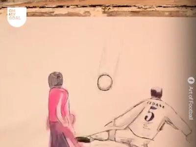 Từ cú volley kỹ thuật của Zidane, pha solo mẫu mực của Messi cho đến những khoảnh khắc đáng nhớ trong bóng đá. Tất cả đều được tái hiện lại bằng phong cách sách lật độc đáo.