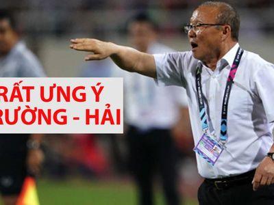 Sau trận thắng Malaysia 2-0, HLV Park Hang-seo đã đánh giá rất cao sự ăn ý của bộ đôi tiền vệ Xuân Trường, Quang Hải