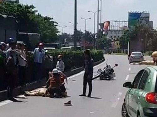 Hưng Yên: Một chiến sĩ CSGT bị thương nặng do va chạm với xe tải