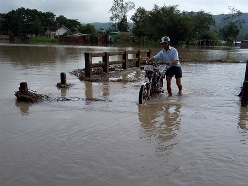 Phú Yên mưa to, ngập lụt chia cắt nhiều địa phương