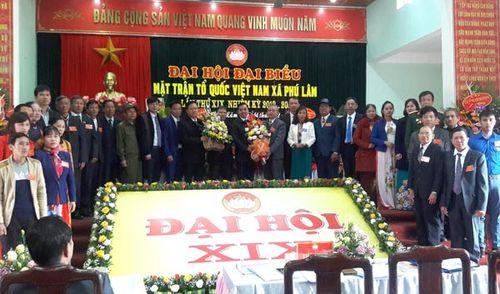 Đại hội điểm Ủy ban MTTQ xã Phú Lâm, huyện Tiên Du