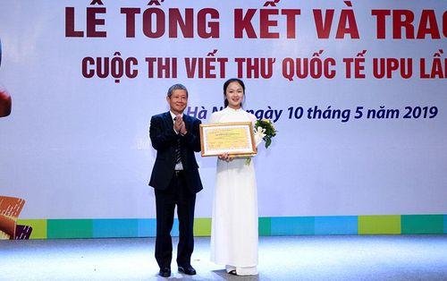 Học sinh Hải Dương đoạt giải Nhất cuộc thi viết thư quốc tế UPU 2019