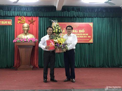 Thị ủy Hoàng Mai công bố Quyết định bổ nhiệm Chánh Văn phòng và Phó Bí thư Thị đoàn