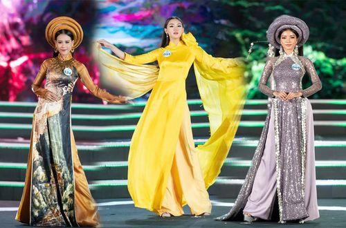Đường cong quyến rũ của thí sinh Miss World Việt Nam trong trang phục áo dài
