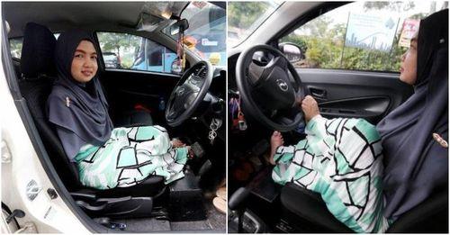 Khuyết tật tay, cô gái lái xe ô tô bằng chân cực đỉnh
