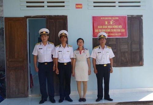 Trung đoàn 451, Vùng 4 Hải quân bàn giao 'Nhà đồng đội'