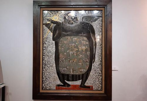 Tác phẩm 'Con người' của họa sĩ Đinh Văn Sơn được bán với giá 8.000 USD