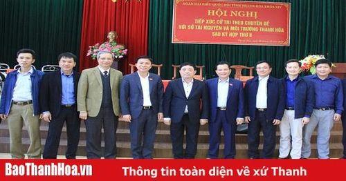 Đoàn ĐBQH tỉnh Thanh Hóa tiếp xúc cử tri tại Sở Tài nguyên và Môi trường