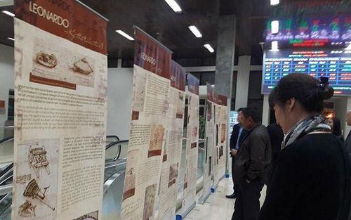 Triển lãm về thiên tài Leonardo da Vinci tại Ga Hà Nội