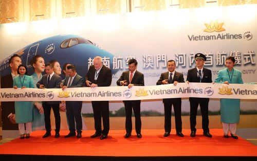 Vietnam Airlines khai trương đường bay giữa Hà Nội và Ma Cao (Trung Quốc)