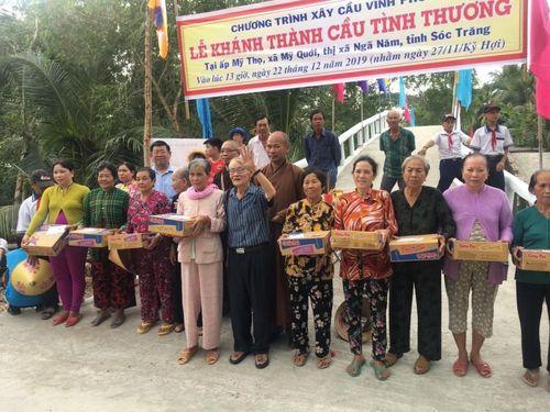 Sóc Trăng : Chùa Thiên Trì bàn giao 2 cầu nông thôn