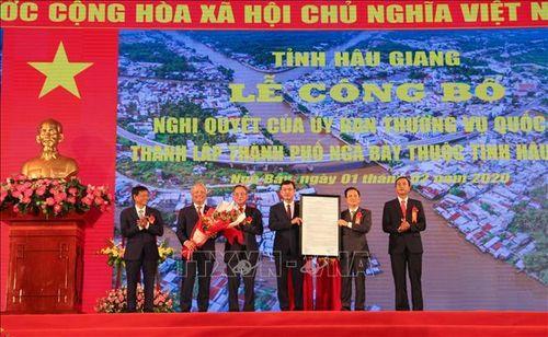 Phó Chủ tịch Quốc hội dự lễ công bố thành lập thành phố Ngã Bảy, tỉnh Hậu Giang