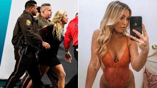 Chân dung cô nàng vén váy khoe vòng 3 làm náo loạn trận Super Bowl 2020