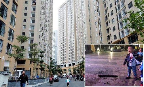 Cư dân chung cư Hà Nội hoảng hồn vì điếu cày rơi từ tầng cao