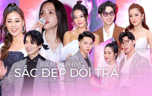 Hoa hậu Khánh Vân cùng K-ICM - gia đình Hoa dâm bụt và dàn sao đến mừng phim mới của Hương Giang - Tuấn Trần