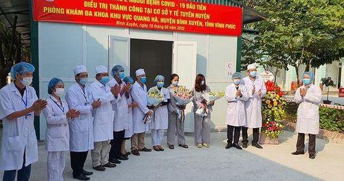 Hai bệnh nhân nhiễm Covid-19 tại Vĩnh Phúc chính thức được xuất viện