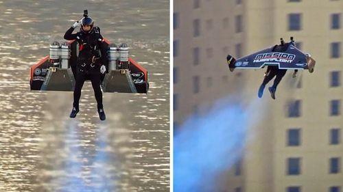 Phi công bay bằng cánh phản lực lên độ cao 1.800 mét