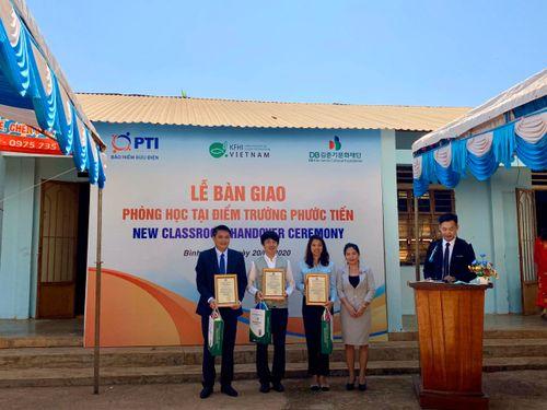 PTI trao tặng phòng học cho Trường tiểu học Hưng Phước- Bù Đốp