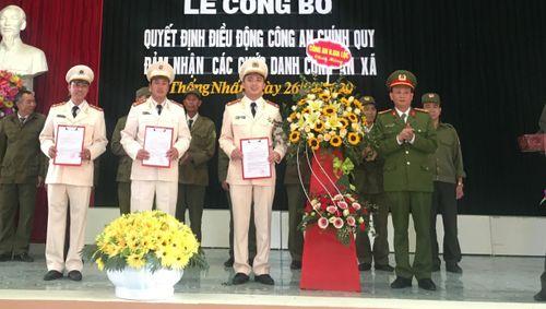 24 cán bộ, chiến sỹ công an huyện Gia Lộc được điều động về xã