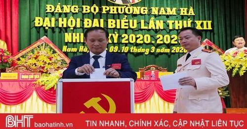 Đại hội Đảng bộ phường Nam Hà trực tiếp bầu Bí thư cấp ủy: Đồng chí Nguyễn Hồng Lĩnh 100% số phiếu