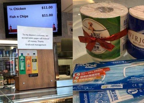 Nhà hàng nhận thanh toán bằng giấy vệ sinh giữa mùa dịch Covid-19