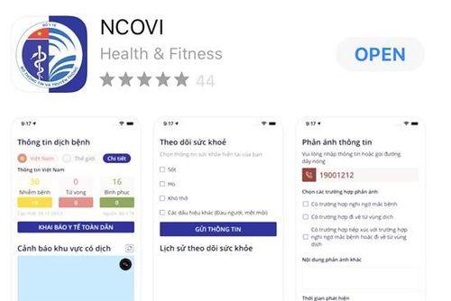 Hơn 115.000 bản khai y tế tự nguyện trên ứng dụng NCOVI