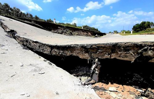 Sụt lún kinh hoàng vùng ngọt hóa Cà Mau