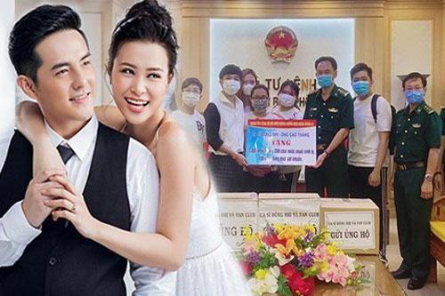 Vợ chồng Đông Nhi - Ông Cao Thắng và fanclub 'khủng' trao tặng 35.000 khẩu trang, loạt vật dụng y tế phòng dịch Covid-19