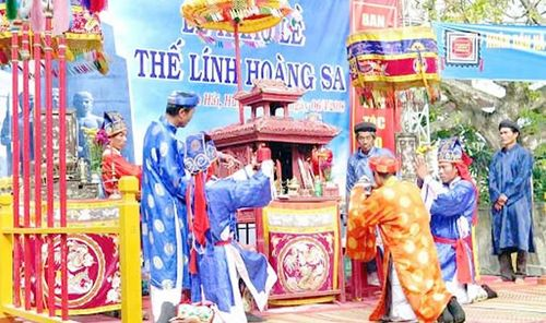 Lễ khao lề thế lính Hoàng Sa chỉ tổ chức phần lễ chính
