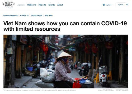 WEF: Việt Nam trở thành 'ngọn hải đăng' về ứng phó với dịch COVID-19