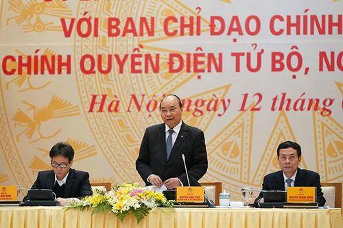 Thủ tướng: Người đứng đầu phải dùng hàng ngày các ứng dụng CPĐT