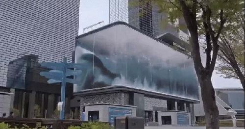 Nhà SM chưa bao giờ khiến người ta thất vọng: thiết kế tòa nhà nhìn như bể bơi có sóng vỗ hoành tráng