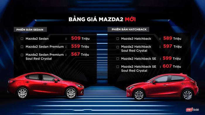 mazda 2 2018 chính thức ra mắt với 7 phiên bản, giá từ 509 - 607 triệu đồng