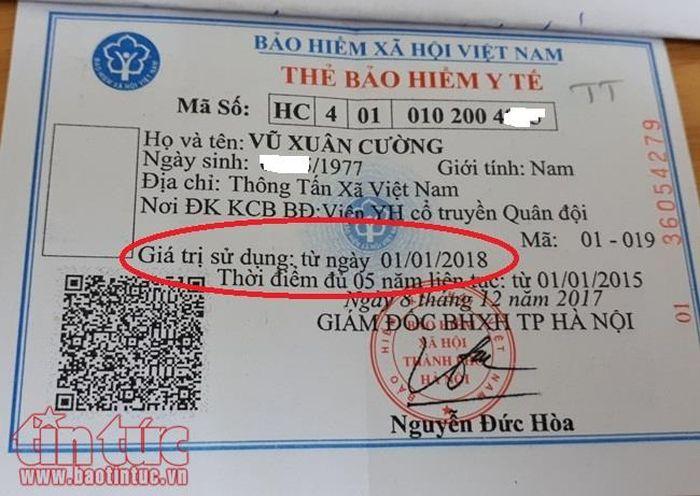 Giá trị sử dụng của thẻ BHYT được tính từ khi nào?