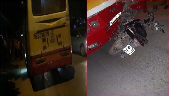 Báo VTC: Quay đầu xe bỏ chạy khi gặp CSGT, thanh niên không đội mũ bảo hiểm bị xe buýt tông nguy kịch