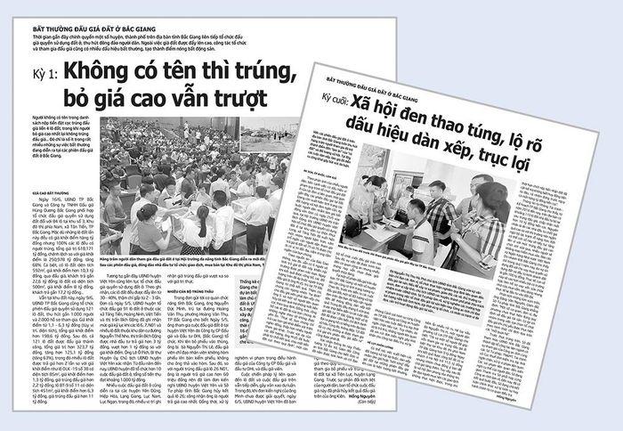 Báo Giao Thông: Nhóm xã hội đen thao túng đấu giá đất ở Bắc Giang là những ai?