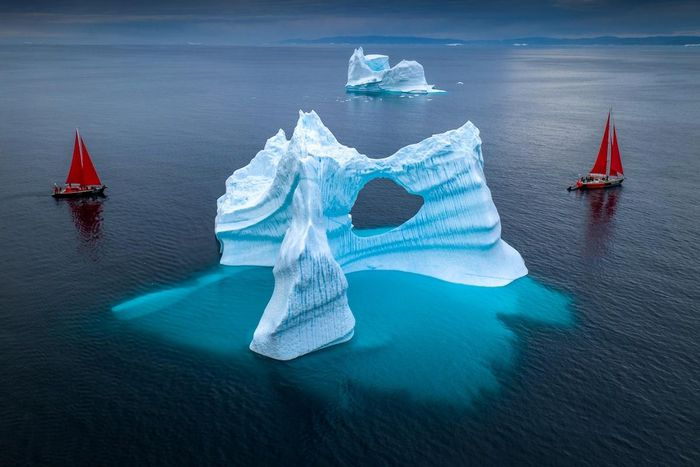 Đến đất nước Greenland ngắm nhìn vẻ đẹp diệu kỳ của tảng băng trôi