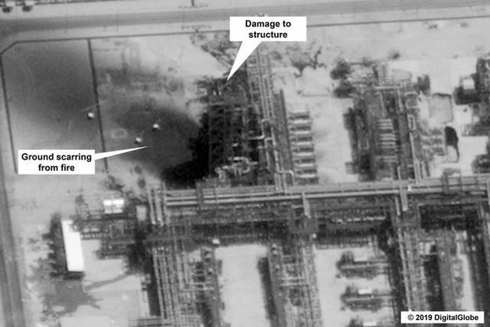 17 địa điểm bị phá hủy trong cơ sở dầu khí Ả rập Xê út bị tấn công