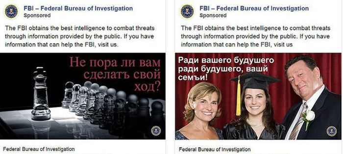 FBI cong khai tuyen diep vien Nga tren Facebook