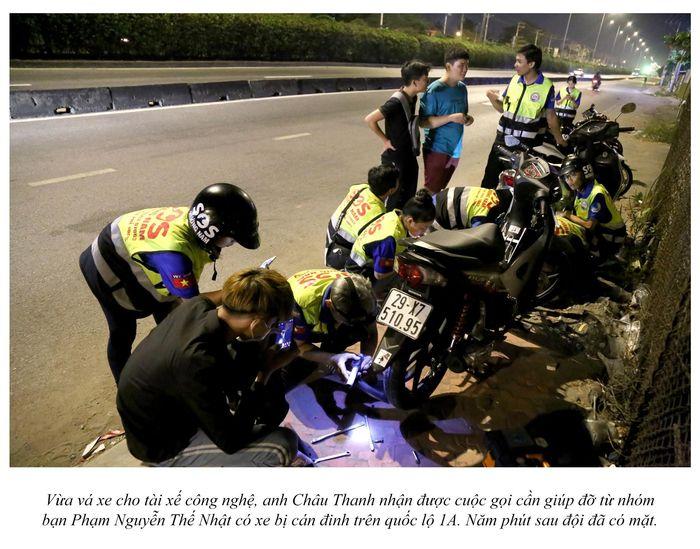 Biệt đội cứu hộ xuyên đêm miễn phí ở Sài Gòn (xe bể bánh, hết xăng, hư bugi,...) 19