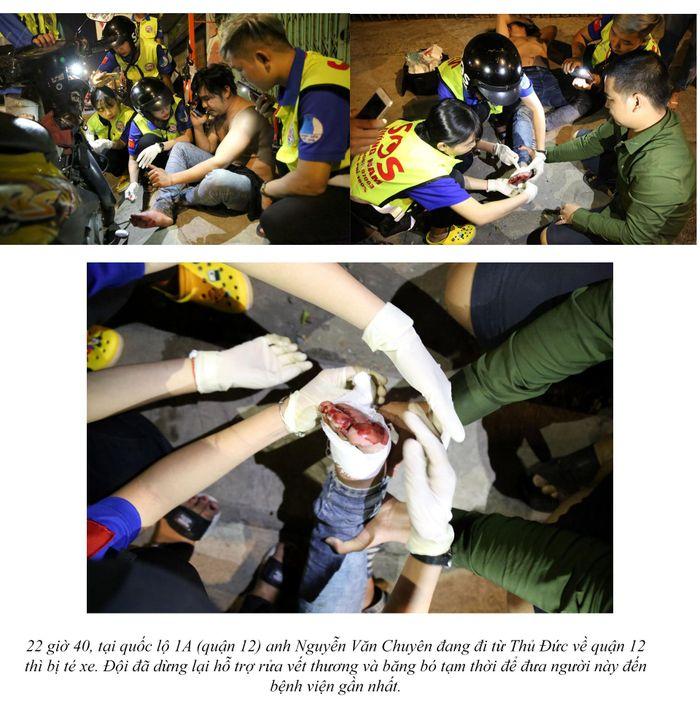 Biệt đội cứu hộ xuyên đêm miễn phí ở Sài Gòn (xe bể bánh, hết xăng, hư bugi,...) 21