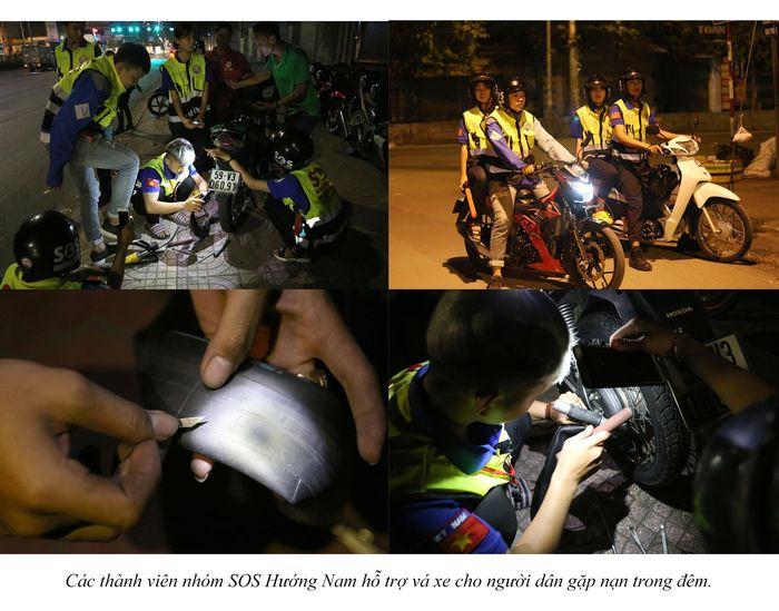 Biệt đội cứu hộ xuyên đêm miễn phí ở Sài Gòn (xe bể bánh, hết xăng, hư bugi,...) 23