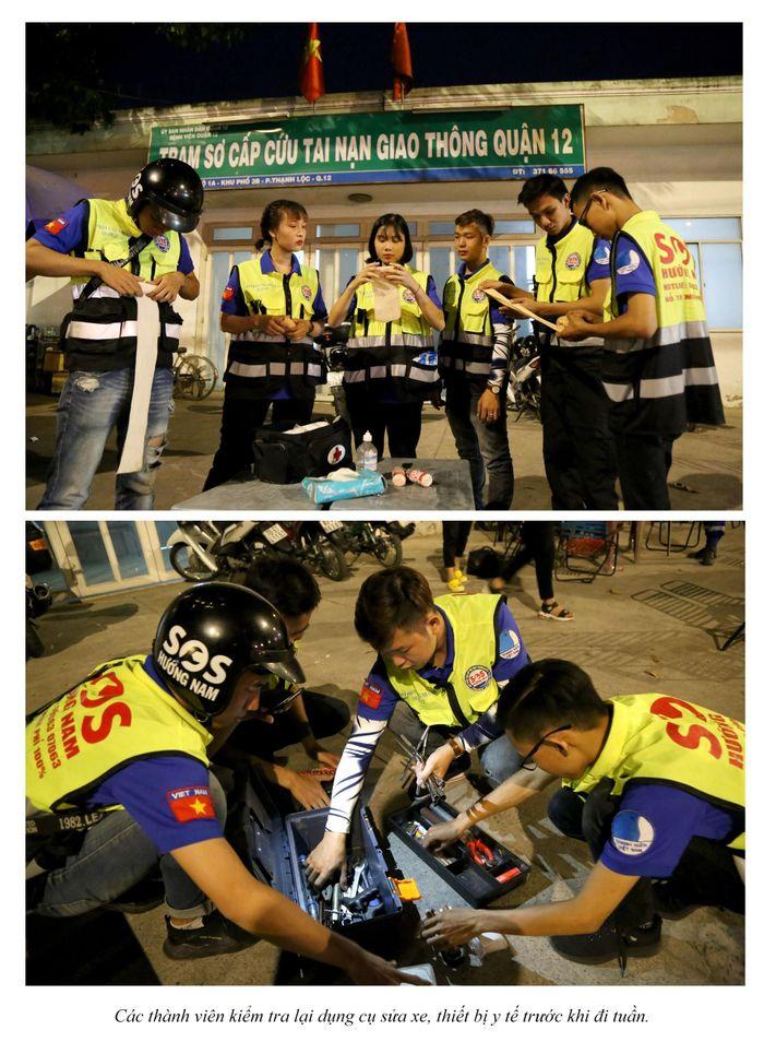 Biệt đội cứu hộ xuyên đêm miễn phí ở Sài Gòn (xe bể bánh, hết xăng, hư bugi,...) 8