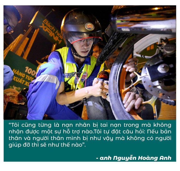 Biệt đội cứu hộ xuyên đêm miễn phí ở Sài Gòn (xe bể bánh, hết xăng, hư bugi,...) 22